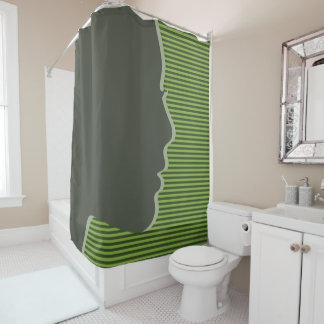 Female Silhouette Shower Curtain