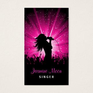 Female Singer Business Card