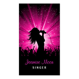 Female Singer Business Card