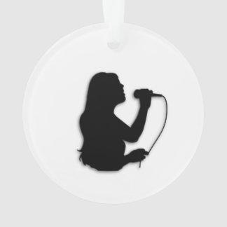 Female Singer Ornament