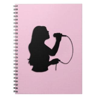 Female Singer Pink Notebook