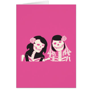 Female Skeleton Couple Card