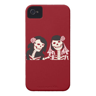 Female Skeleton Couple iPhone 4 Case
