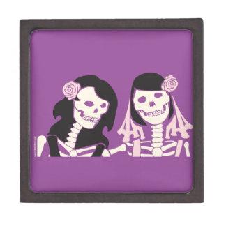 Female Skeleton Couple Premium Jewelry Box