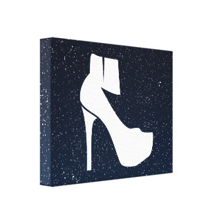 Female Sneakers Symbol Gallery Wrap Canvas