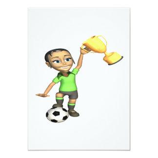 Female Soccer Champion 13 Cm X 18 Cm Invitation Card