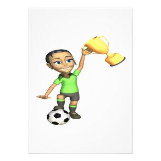 Female Soccer Champion Personalized Invite
