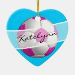 Female Soccer Player's Christmas Tree Ornament