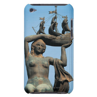 Female statue holding ship, Barcelona iPod Touch Case