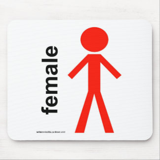 Female Stick Figure Mouse Pad