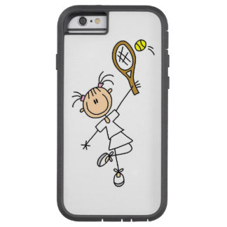 Female Stick Figure Tennis Player Tough Xtreme iPhone 6 Case