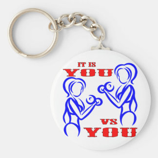Female Strength Training It Is You Vs You Key Ring