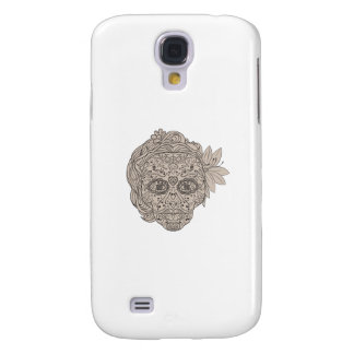 Female Sugar Skull Calavera Retro Galaxy S4 Cases