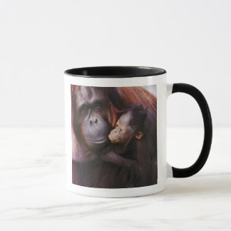 Female Sumatran Orangutan with baby, Pongo Mug