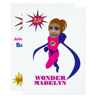 Female Superhero Pink Woman Custom Photo Template