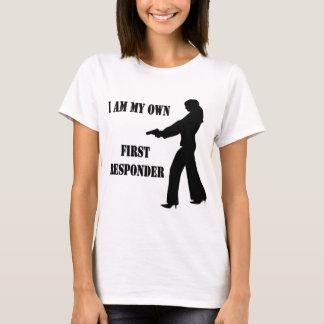 Female w/ Gun I Am My Own First Responder T-Shirt