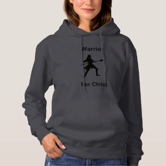 Female Warrior For Christ Hoodie