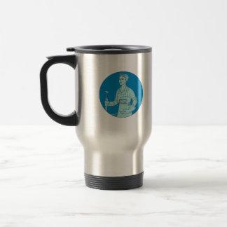 Female Welder Acetylene Welding Torch Mono Line Travel Mug