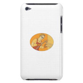 Female Welder Acetylene Welding Vintage Mono Line iPod Case-Mate Case