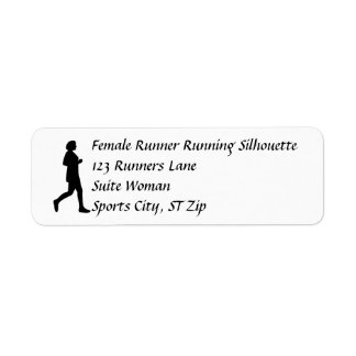 Female Woman Jogger Runner Address Labels