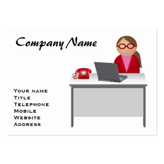 Female worker business card