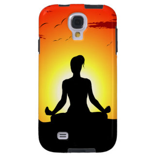 Female Yoga Meditating Sunshine Samsung Galaxy S4 Galaxy S4 Case