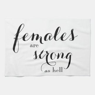 Females are Strong Dishtowel Tea Towel
