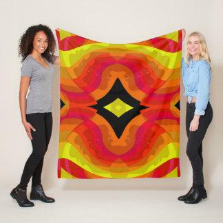 Females Faces - Red/Yellow/Orange/Pink/Black Fleece Blanket