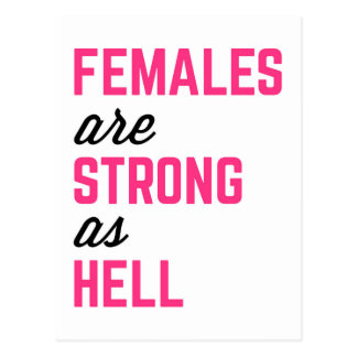 Females Strong Hell Gym Quote Postcard