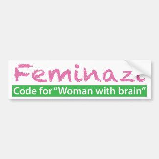 Feminazi Car Bumper Sticker