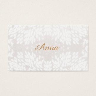 Feminine and Elegant Chic White Leaves Business Card