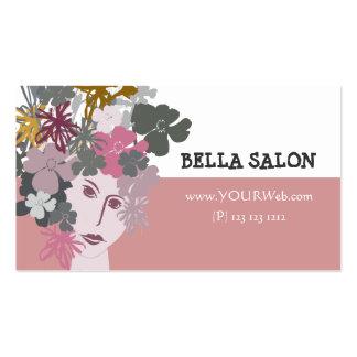 Feminine Beauty Blooming Goddess Business Cards