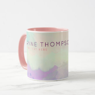 feminine & beauty watercolor mug