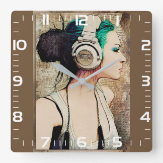 "Feminine clock of wall ""Woman music """