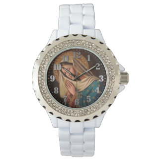 """Feminine clock with pebble """"Ours Lady """" Watch"""