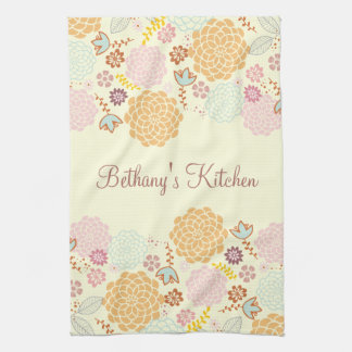 Feminine Fancy Modern Floral Hand Towels