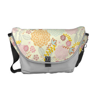Feminine Fancy Modern Floral Courier Bags
