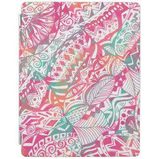 feminine hand drawn pink tribal floral pattern iPad cover
