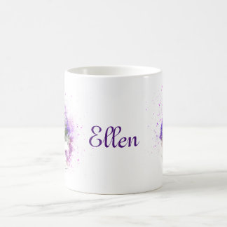 Feminine, lavender and purple flowers bouquet coffee mug