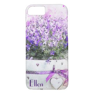 Feminine, lavender and purple flowers bouquet iPhone 8/7 case