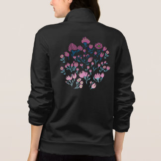 Feminine Moletom: comFloral black color and Ziper