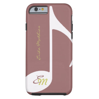 feminine musical note tough iPhone 6 case