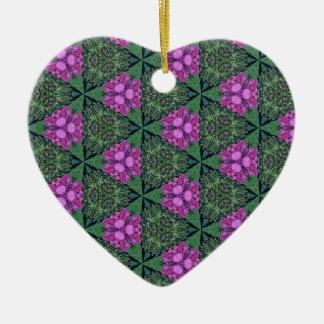 Feminine Pattern Ceramic Heart Decoration