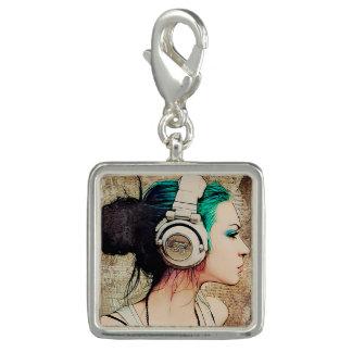 "Feminine pendant of silver ""Woman music """