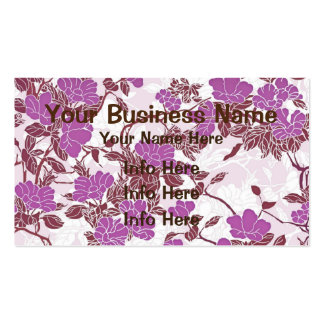Feminine Pink And White Flowers Pack Of Standard Business Cards