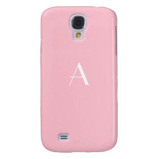 Feminine Soft Pink Monogram Galaxy4 Case