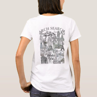 Feminine t-shirt Basic Arch Mural Search