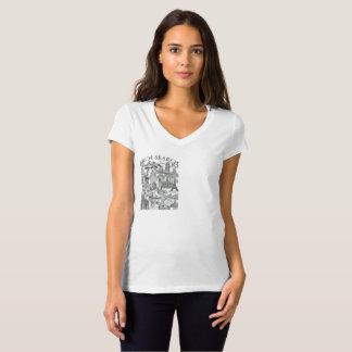 Feminine t-shirt Bella V Arch Mural Search