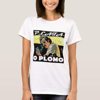 Feminine t-shirt Branca Narcos Plata the Plomo
