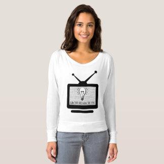 Feminine t-shirt Flowy Long Arch Search TV